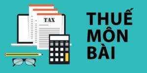 khai thuế môn bài năm 2020